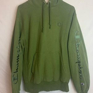 Champion Reverse Weave Olive Green Hoodie